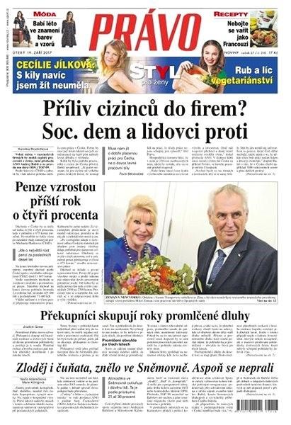 Právo - 19-09-2017 - Elektronické noviny