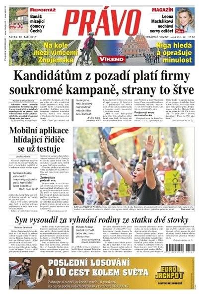 Právo - 22-09-2017 - Elektronické noviny