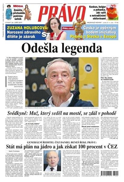 Právo - 26-09-2017 - Elektronické noviny