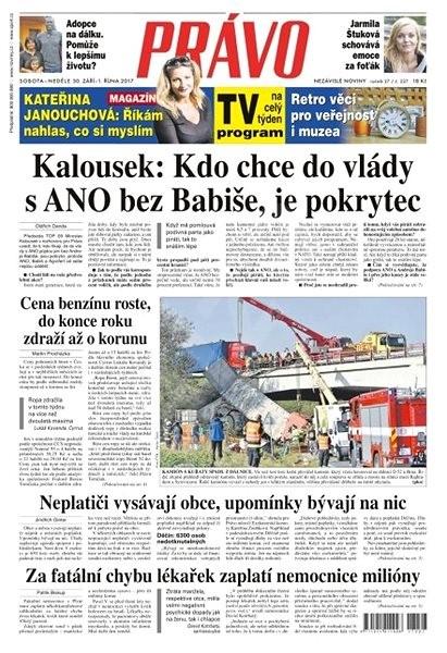Právo - 30-09-2017 - Elektronické noviny