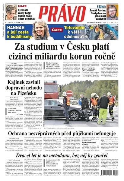 Právo - 05-10-2017 - Elektronické noviny