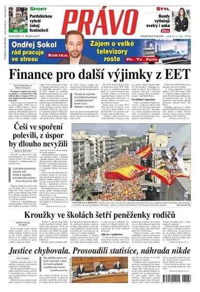 Právo - 09-10-2017 - Elektronické noviny
