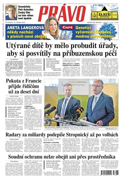 Právo - 12-10-2017 - Elektronické noviny