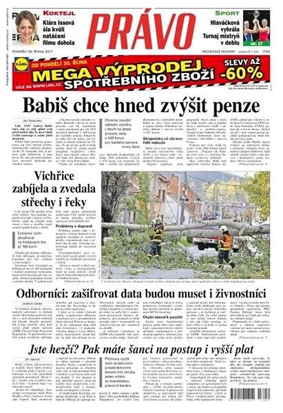 Právo - 30-10-2017 - Elektronické noviny