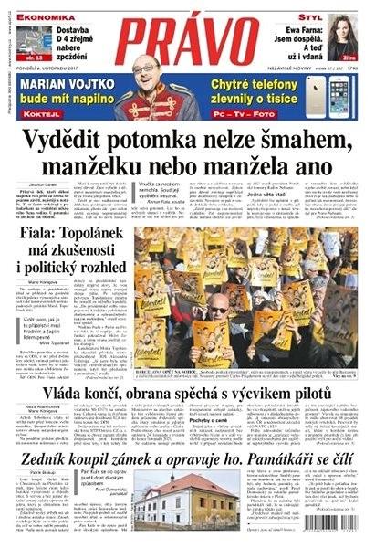 Právo - 06-11-2017 - Elektronické noviny