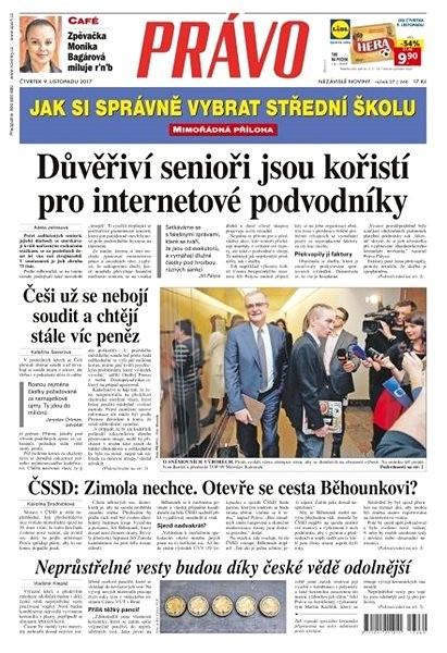 Právo - 09-11-2017 - Elektronické noviny