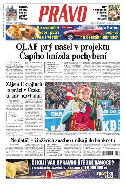 Právo - 22-12-2017 - Elektronické noviny