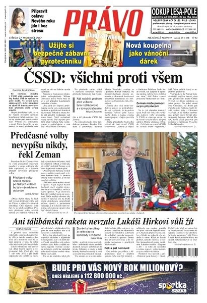 Právo - 27-12-2017 - Elektronické noviny