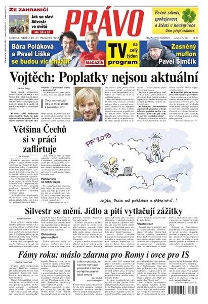Právo - 30-12-2017 - Elektronické noviny