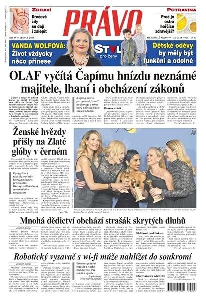 Právo - 09-01-2018 - Elektronické noviny