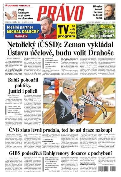 Právo - 20-01-2018 - Elektronické noviny