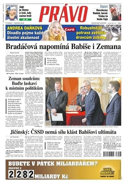 Právo - 01-02-2018 - Elektronické noviny