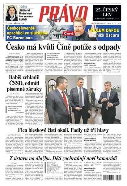 Právo - 01-03-2018 - Elektronické noviny