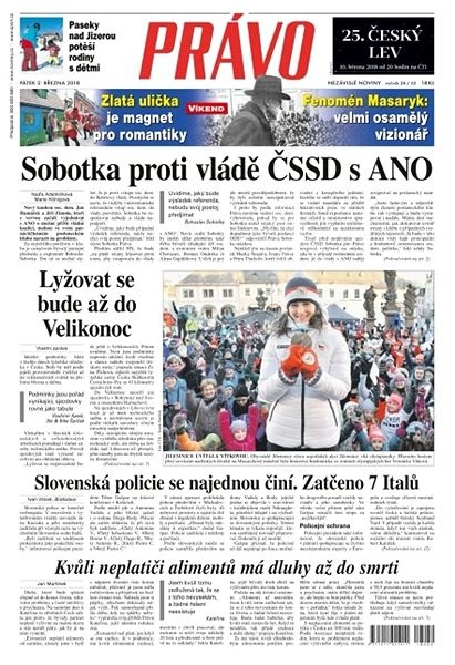 Právo - 02-03-2018 - Elektronické noviny