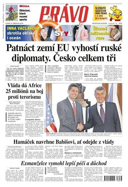 Právo - 27-03-2018 - Elektronické noviny