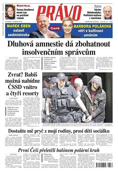 Právo - 05-04-2018 - Elektronické noviny