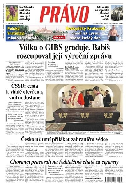 Právo - 20-04-2018 - Elektronické noviny