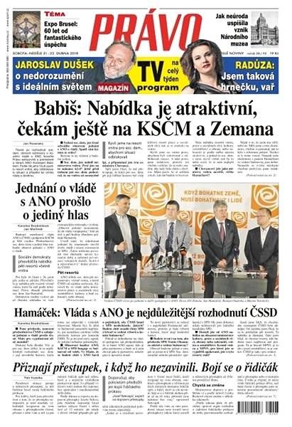 Právo - 21-04-2018 - Elektronické noviny