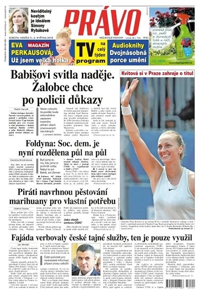 Právo - 05-05-2018 - Elektronické noviny