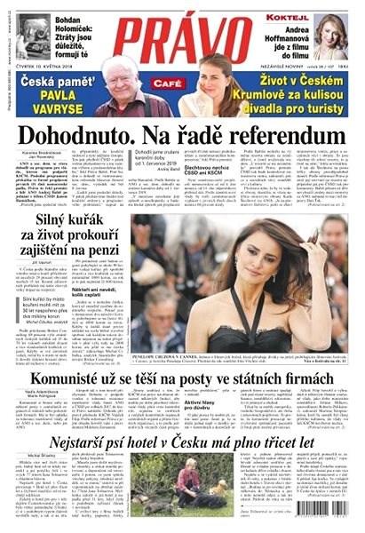 Právo - 10-05-2018 - Elektronické noviny