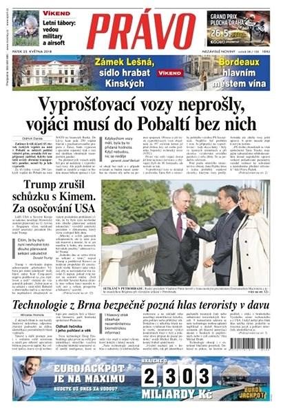 Právo - 25-05-2018 - Elektronické noviny