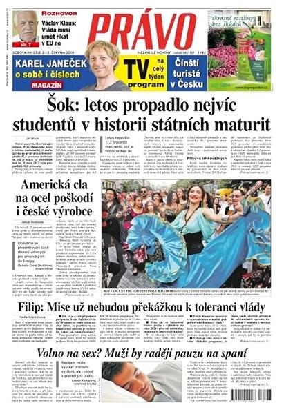 Právo - 02-06-2018 - Elektronické noviny
