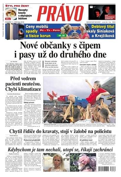 Právo - 11-06-2018 - Elektronické noviny