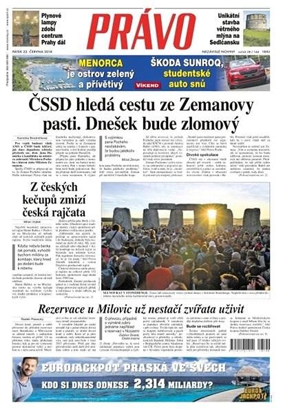 Právo - 22-06-2018 - Elektronické noviny