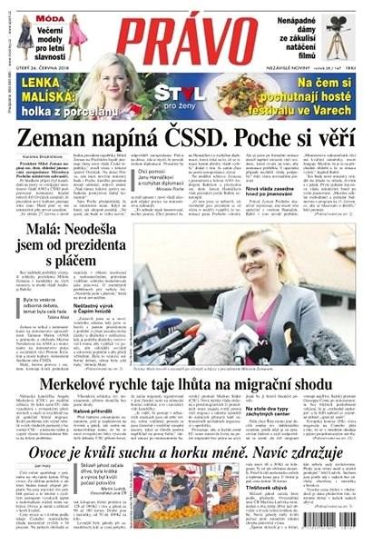 Právo - 26-06-2018 - Elektronické noviny