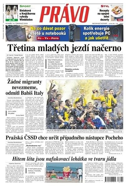 Právo - 16-07-2018 - Elektronické noviny