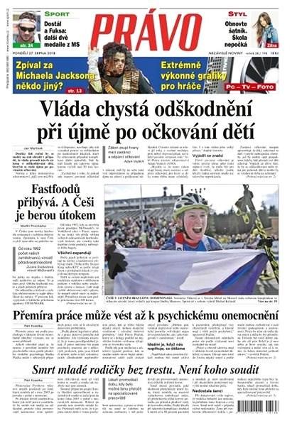 Právo - 27-08-2018 - Elektronické noviny