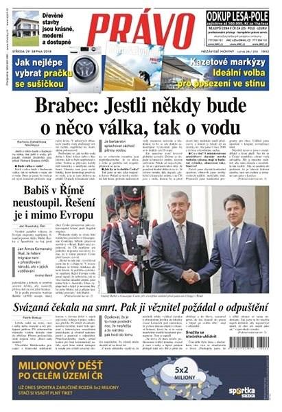 Právo - 29-08-2018 - Elektronické noviny