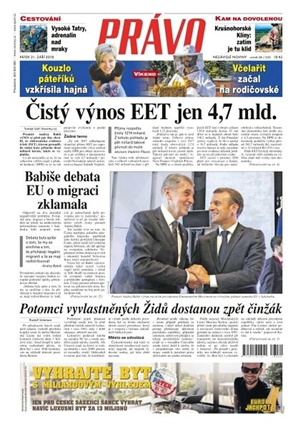 Právo - 21-09-2018 - Elektronické noviny