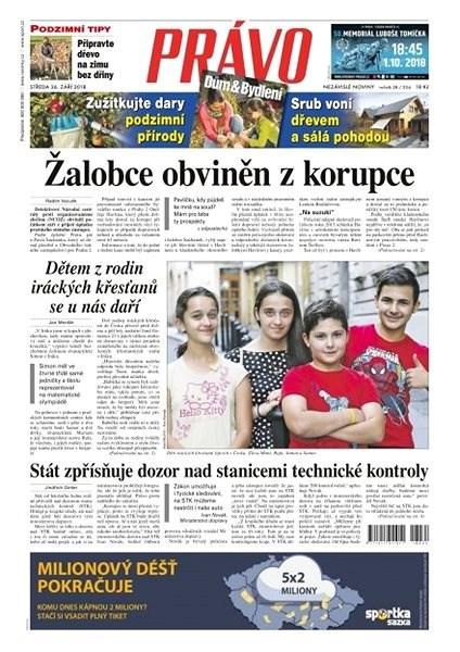 Právo - 26-09-2018 - Elektronické noviny
