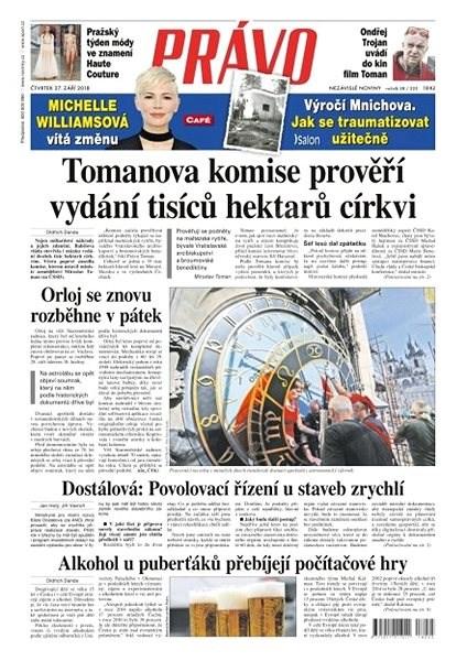 Právo - 27-09-2018 - Elektronické noviny