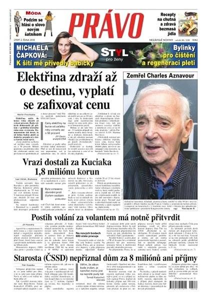 Právo - 02-10-2018 - Elektronické noviny