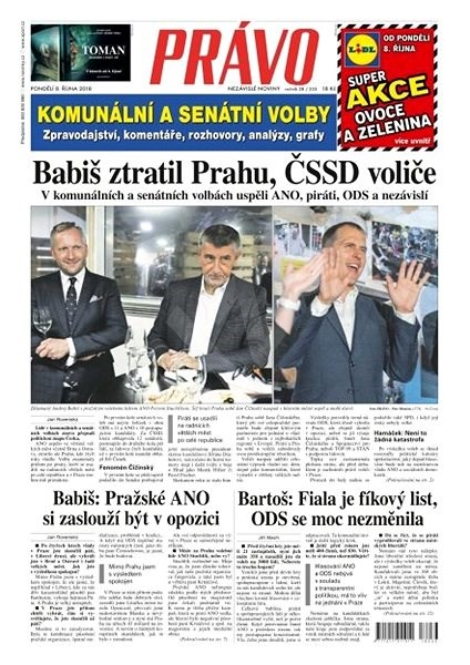 Právo - 08-10-2018 - Elektronické noviny