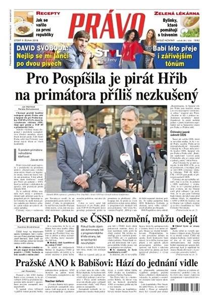 Právo - 09-10-2018 - Elektronické noviny