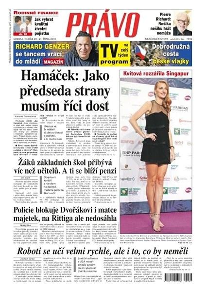 Právo - 20-10-2018 - Elektronické noviny