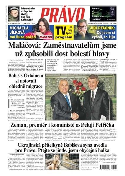 Právo - 01-12-2018 - Elektronické noviny