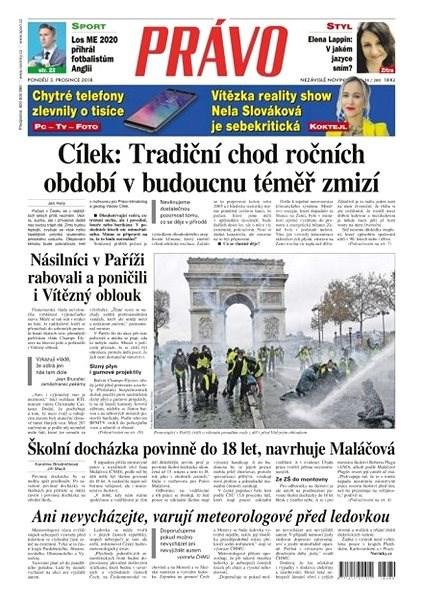 Právo - 03-12-2018 - Elektronické noviny