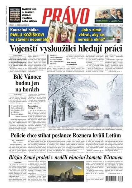 Právo - 12-12-2018 - Elektronické noviny