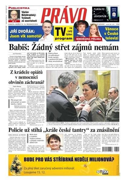 Právo - 15-12-2018 - Elektronické noviny