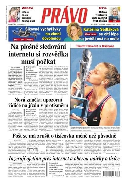 Právo - 07-01-2019 - Elektronické noviny