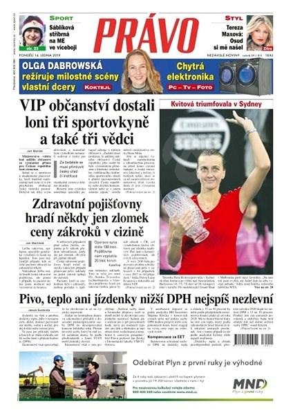 Právo - 14-01-2019 - Elektronické noviny