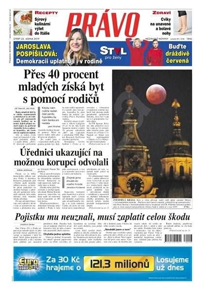 Právo - 22-01-2019 - Elektronické noviny