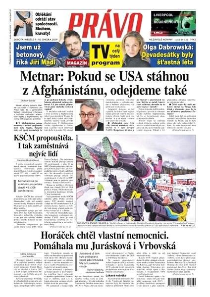 Právo - 09-02-2019 - Elektronické noviny