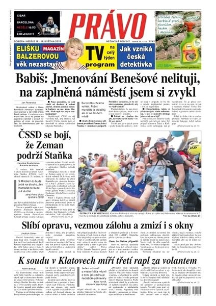 Právo - 18-05-2019 - Elektronické noviny