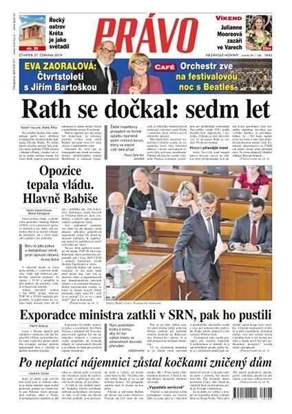 Právo - 27-06-2019 - Elektronické noviny