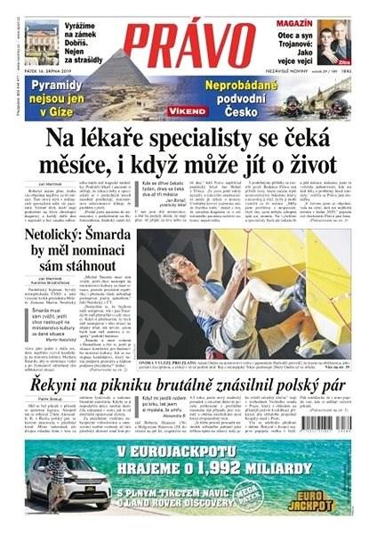 Právo - 16-08-2019 - Elektronické noviny